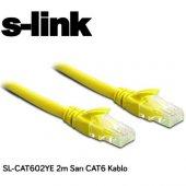 S Link Sl Cat602ye Cat6 Patch Kablo 2m Sarı
