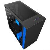 Nzxt H400 Siyah Mavi Temp. Cam Usb3.1 M Atx Kasa