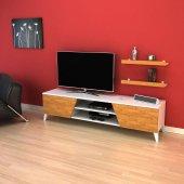 Evform Tv Ünitesi Raf Hediyeli 180cm Long Televizyon Sehpası Ba