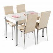 Evform Favorite 4 Kişilik Masa Sandalye Mutfak Masası Takımı Kr
