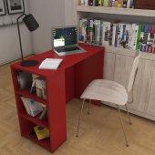 Kenzlife Çalışma Ve Bilgisayar Masası Raflı Venüs Kırmızı