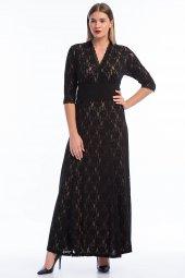 Kadın Büyük Beden Abiye Uzun Elbise Kl16000