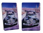 Route 66 Klasik Amerikan Araba Metal Dekoratif Büyük Boy Tabela
