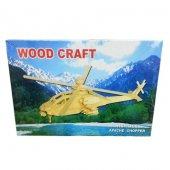 Ahşap Puzzle Apache Chopper Eğitici Çocuk Oyuncak Zeka Geliştiren