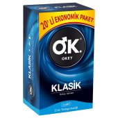Okey Klasik 10 Lu Prezervatif 2 Kutu Ücretsiz Karg...