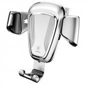 Baseus Gravity Araç İçi Telefon Tutucu Universal Gümüş