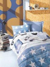 Cotton Box Tek Kişilik Ranforce Nevresim Takımı Modus Mavi