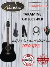 Takamine Gd30ce Blk Elektro Akustik Gitar Hediyeli...