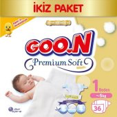 Goon Bebek Bezi Premium Soft 1 Beden 36lı Eko Paket 0 5 Kg