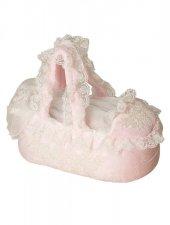 Mecit Taş İşlemeli Pembe Bebek Puset 521