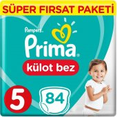 Prima Pants Külot Bebek Bezi 5 Beden Junior Süper Fırsat Paketi 8