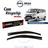 Ford Transit Custom 2014 2018 Cam Rüzgarlık Mugen Tip Sunplex