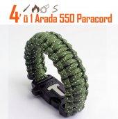 Yeşil Reflektörlü 41 Paracord Bileklik Survival Cobra Kobra