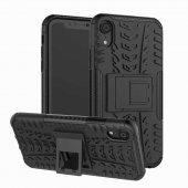 Edelfalke Apple İphone Xr 6.1 Hibrit Silikon Kılıf Siyah