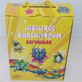 Ingilizce Öğreniyorum Eğitici Oyun Hayvanlar Puzzle