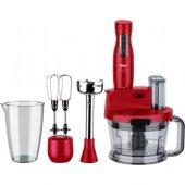 Fakir Mr Chef Quadro Kırmızı Mutfak Robotu Blender Seti Rouge