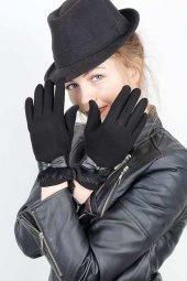 Siyah Renk Bayan Dokunmatik Ekran Eldiven