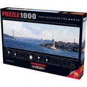 1000 Parça Puzzle Yapboz 33x96 3127 Kız Kulesi Boğaz Köprüsü