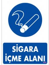 Sigara İçme Alanı Levhası