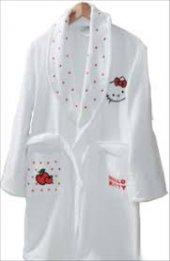 Hello Kitty 7 9 Yaş Beyaz Çocuk Bornoz