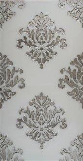 Bg52 Granitto Beyaz Zemin Gümüş İşlemeli 30x60cm Dekor