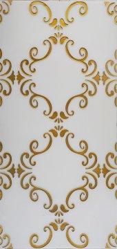 Ba27 Granitto Beyaz Zemin Altın İşlemeli 30x60cm Dekor