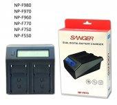 Sony Kameralar İçin Sanger Np F970 İkili Şarj Ciha...