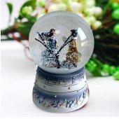Otomatik Kar Atan Pilli Işıklı Müzikli Büyük Sevgili Kar Küresi