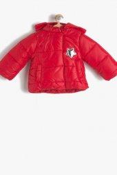 Koton 7kmg29052ow Kapşonlu Yıldız Detaylı Kız Bebek Şişme Mont