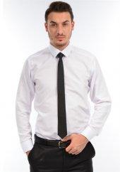 Albertino Erkek Beyaz Kompak Slimfit Uzun Kol Gömlek