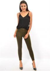 Teen Blue 9023 Kadın Haki Dar Paça Pantolon