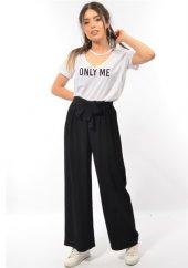 G.sağlam Kadın Kuşaklı Siyah Pantolon
