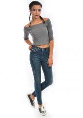 Starlife 1451 Kadın Tint Mavi Dar Paça Kot Pantolon
