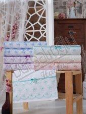 Evinize Moda Kadife İnci Tül 2 50x90 6 Lı Havlu