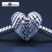 Gümüş Kalp Charm,charm Bileklik Uyumlu