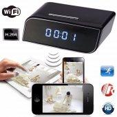 Masa Saati Ip Kamera Hd 720p Wifi Alarmlı Saat Kamerası H.264
