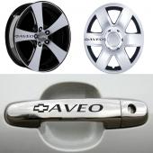Chevrolet Aveo Kapı Kolu Ve Jantlara 10lu Sticker Set