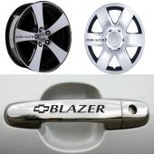 Chevrolet Blazer Kapı Kolu Ve Jantlara 10lu Sticker Set