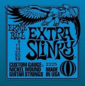 Ernie Ball P02225 Extra Slinky Nickel Wound 008 038 Elektro Gitar Teli