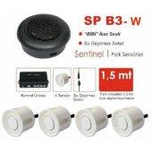 Park Sensörü Buzzerli Beyaz Bip Ses İkazlı 4 Gözlü Ücretsiz Kargo