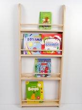 çocuk Odası Ahşap Montessori Kitaplık Naturel