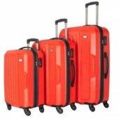Wexta Wx 210 3lü Set Valiz Kırmızı