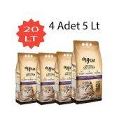 Mycat (5 Lt) 4 Adet Bentonit Kedi Kumu Portakal Kokulu Kalın Tane