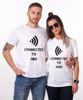 Tshirthane Connected To Her Sevgili Kombini Tişörtleri