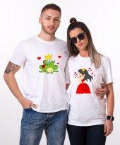 Tshirthane Kurbağa Prenses Sevgili Kombini Tişörtleri