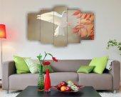 Beyaz Güvercin Dekoratif 5 Parça Mdf Tablo