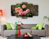 Gül Buketi Çiçek Dekoratif 5 Parça Mdf Tablo