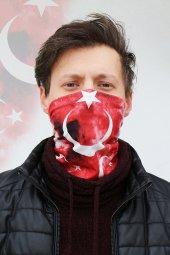 Türk Bayrağı Ve K.atatürk İmzalı Buff Bandana Ücretsiz Kargo
