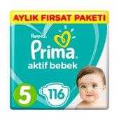 Prima Bebek Bezi 5 Beden Aylık Fırsat Paketi 116 Adet