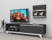 Dekoramis Kartel Tv Ünitesi 160cm Antrasit Beyaz